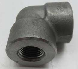 "STEEL A350 LF2 THREADED FITTING FORGED 2"" CLASS 3000 THREADED ELBOW"